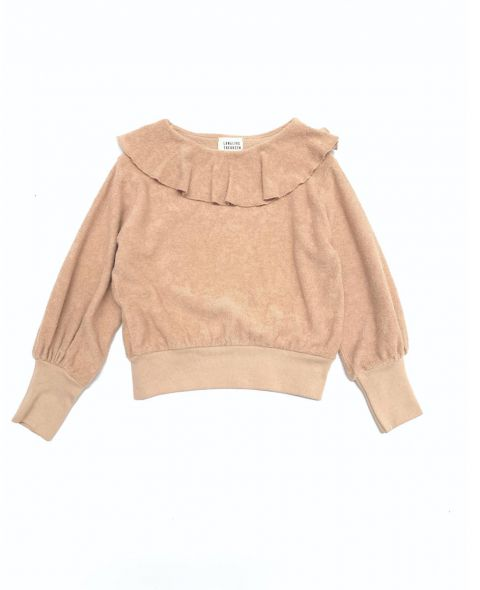 20232 volant terry sweater
